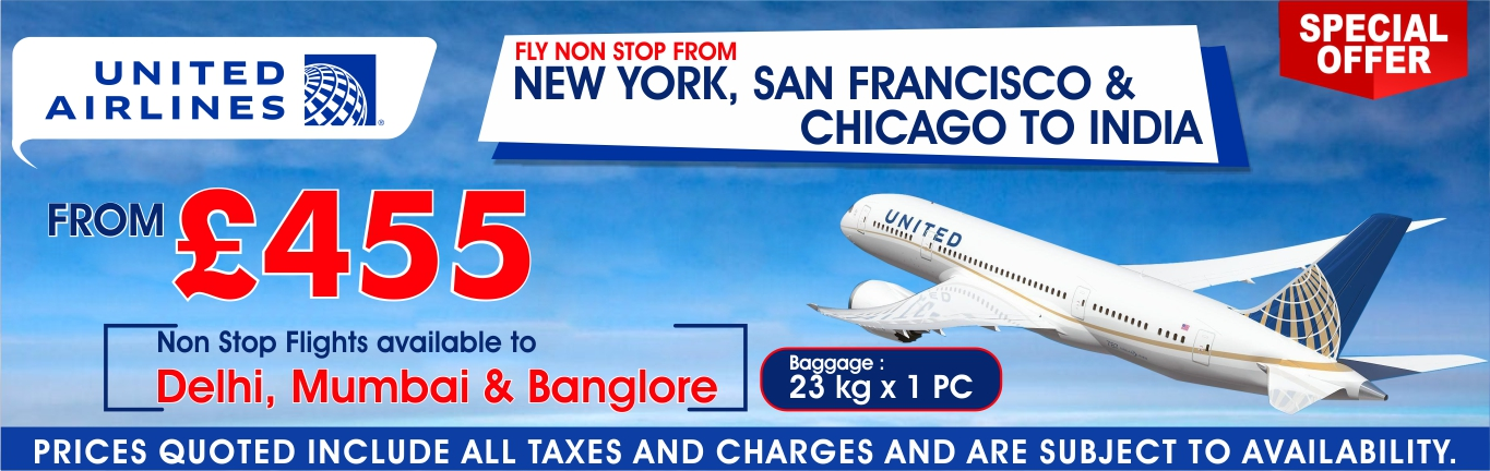 United Airlines USA to India Flights